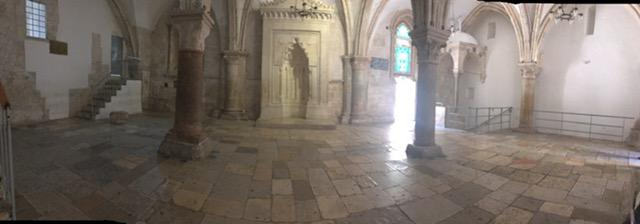 Room of the last supper in jerusalem